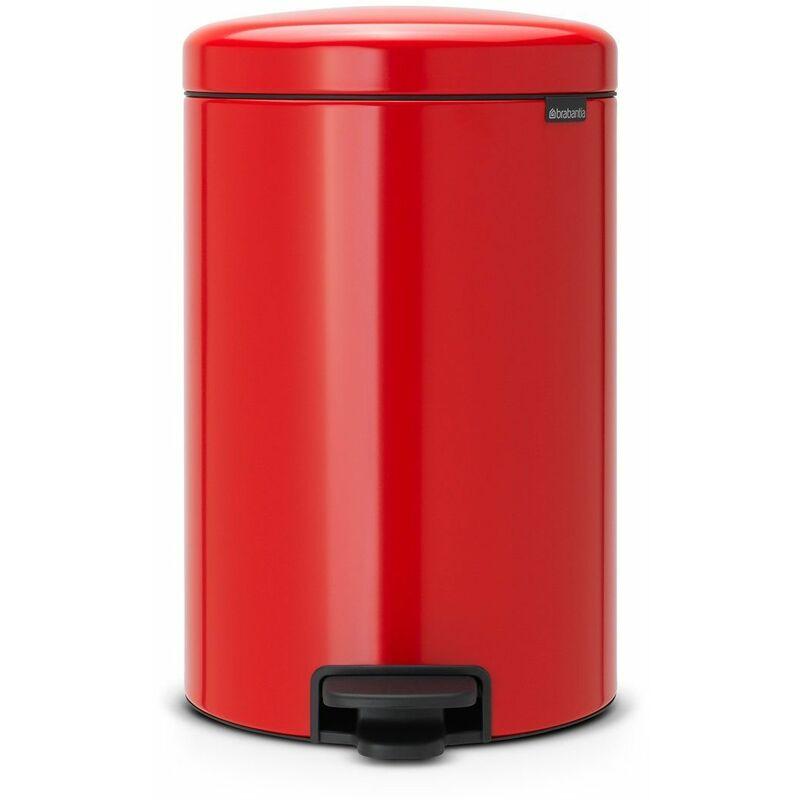 BRABANTIA poubelle à pédale 20l rouge passion - 111860 - brabantia