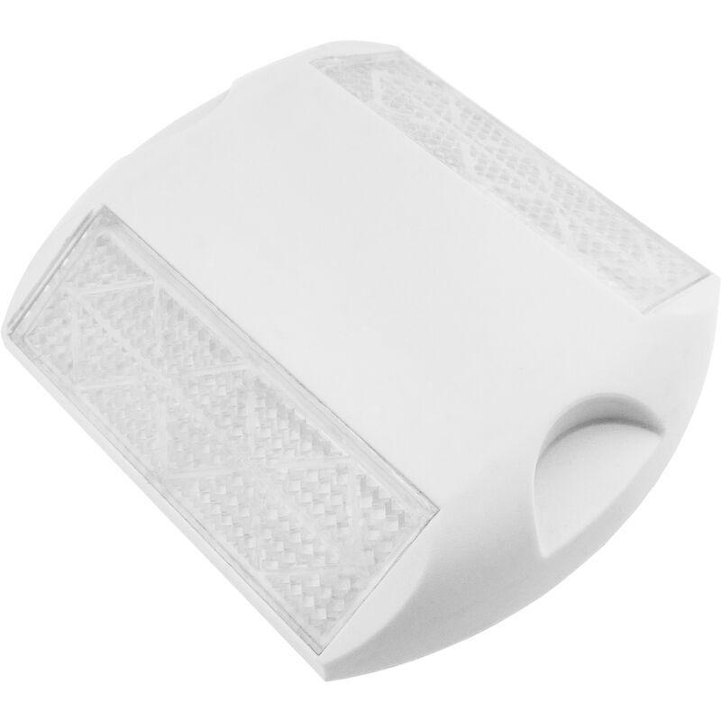PRIMEMATIK Réflecteur routier 103 x 87 mm. Capteur de sol en plastique blanc