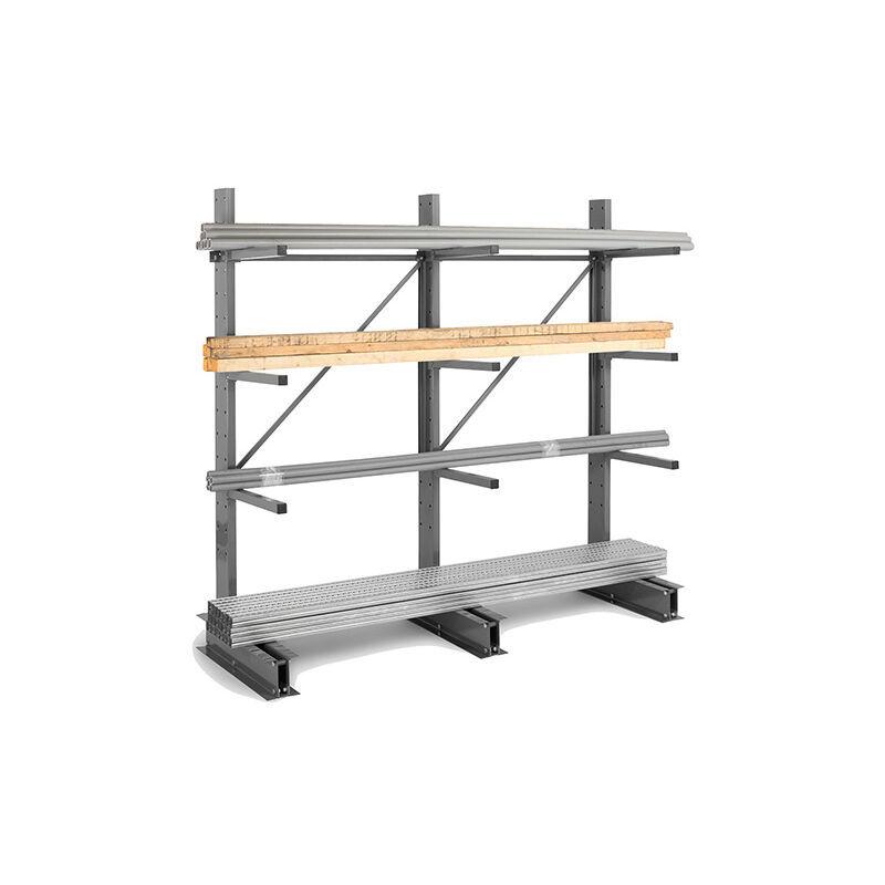 RAYONNAGE DIRECT B. Rack cantilever 3 niveaux - 1 coté - 2000x1000x800mm - Élément