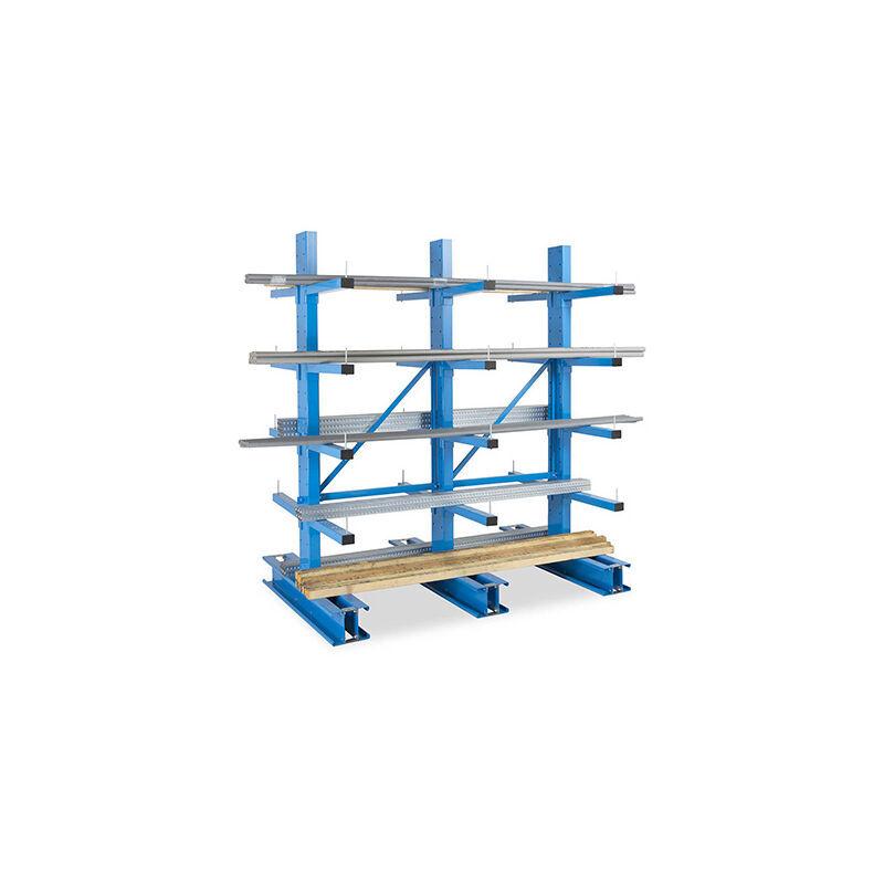RAYONNAGE DIRECT B. Rack cantilever 4 niveaux 2 cotés - 2500x1000x800mm - Élément