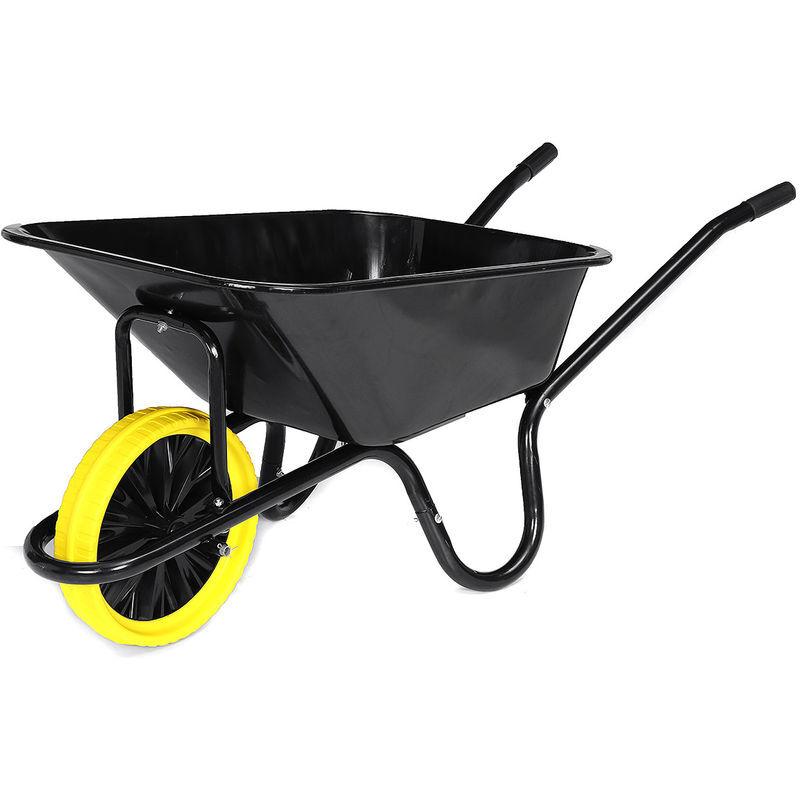AUGIENB Brouette de jardin 85L Max. 150KG avec pneu chariot transport chantier