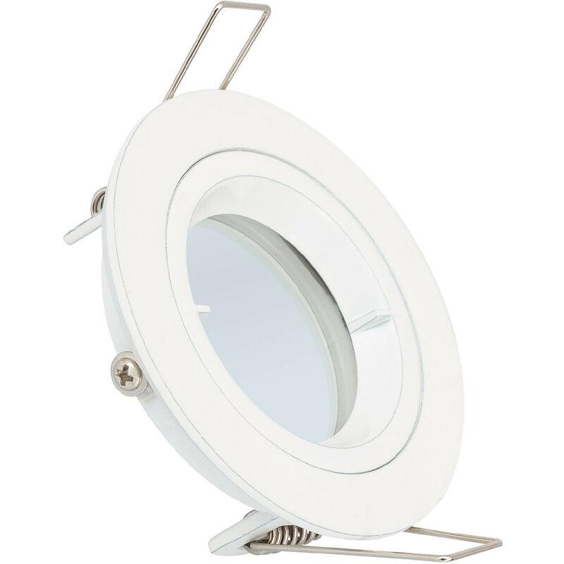 LEDKIA Collerette Ronde Downlight Blanche pour Ampoule LED GU10 / GU5.3 Blanc