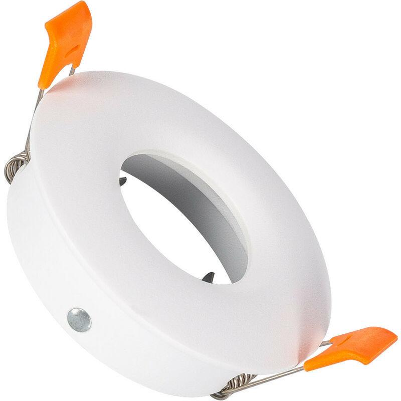 LEDKIA Collerette Ronde Downlight Design Blanche pour Ampoule LED GU10 / GU5.3