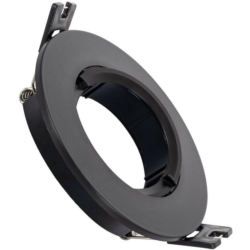 LEDKIA Collerette Ronde PC pour Ampoule LED GU10 / GU5.3 Noir - Noir