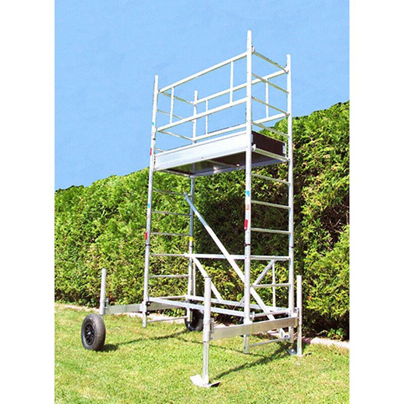 ECHAFAUDAGE DIRECT - MATISERE F. Echafaudage de jardin - Hauteur de plateforme de 7.30m - ECHAFAUDAGE