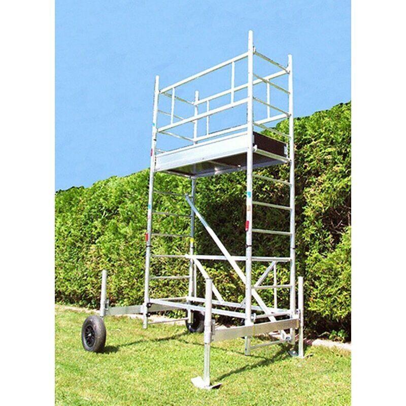 ECHAFAUDAGE DIRECT - MATISERE B. Echafaudage de jardin - Hauteur de plateforme de 3.30m - ECHAFAUDAGE