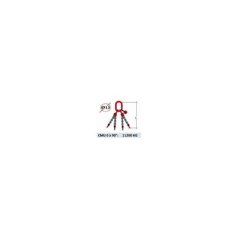 WEBSILOR Elingue chaine 4 brins - sans crochet - CMU 11200 kg (classe 80)