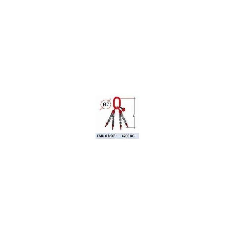 WEBSILOR Elingue chaine KUPLEX 4 brins - sans crochet - CMU 4200 kg (classe 100)