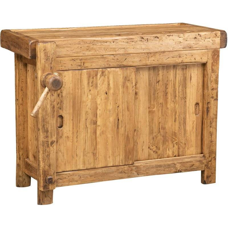 Biscottini - Etabli rustique style bois massif de tilleul finition