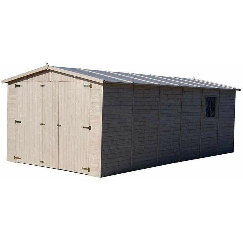 Gardiun Garage Voiture En Bois Mikhail Ii - 20 M² Extérieur 616 cm x