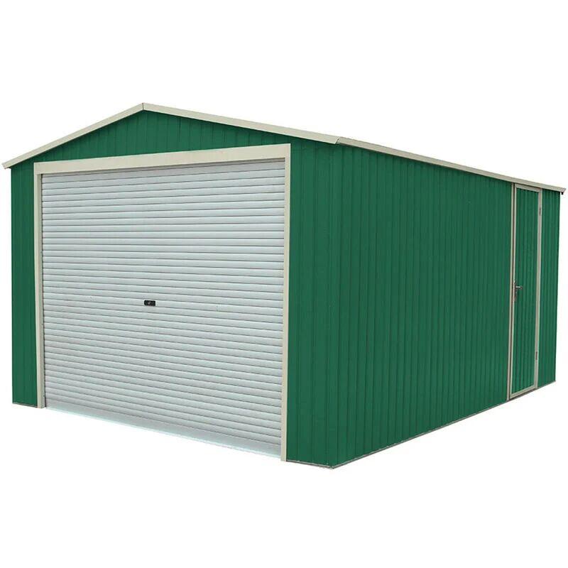 Gardiun Garage Voiture Métallique Essex 19,5 M² Extérieur 576 cm x 338