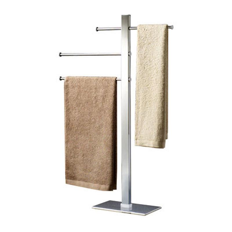 GEDY S.P.A. Gedy - Porte-serviettes sur pied en acier inoxydable chromé, avec 3