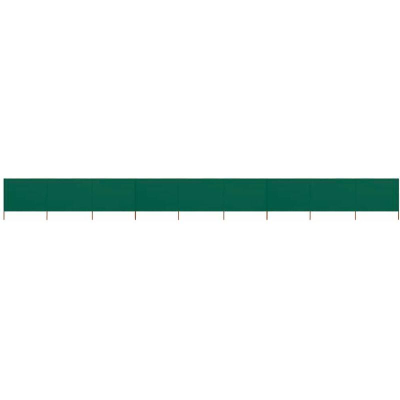 HOMMOO Paravent 9 panneaux Tissu 1200 x 120 cm Vert HDV45759 - Hommoo