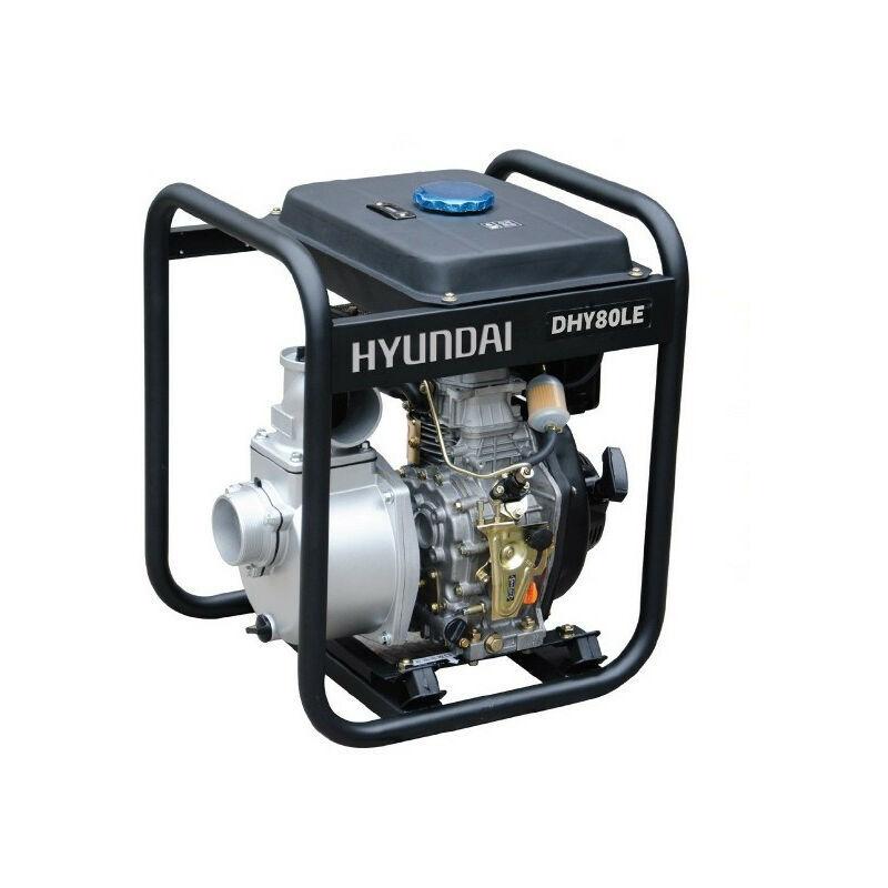 Hyundai E - HYUNDAI motopompe thermique-296cc-DHY80LE diesel