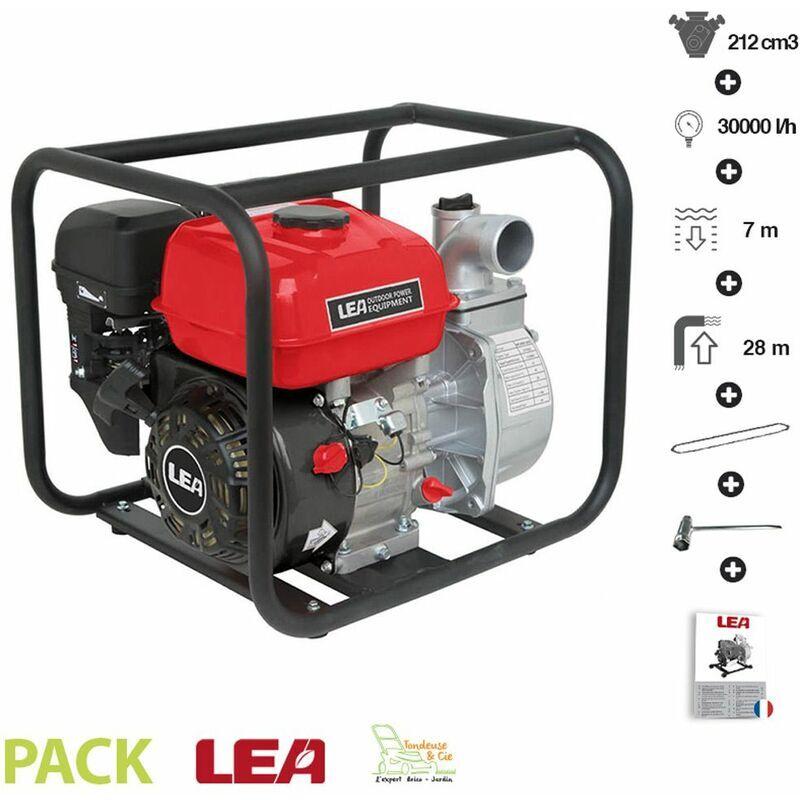 LEA - Motopompe thermique évacuation eau irrigation 5,6Cv 212cm3 débit