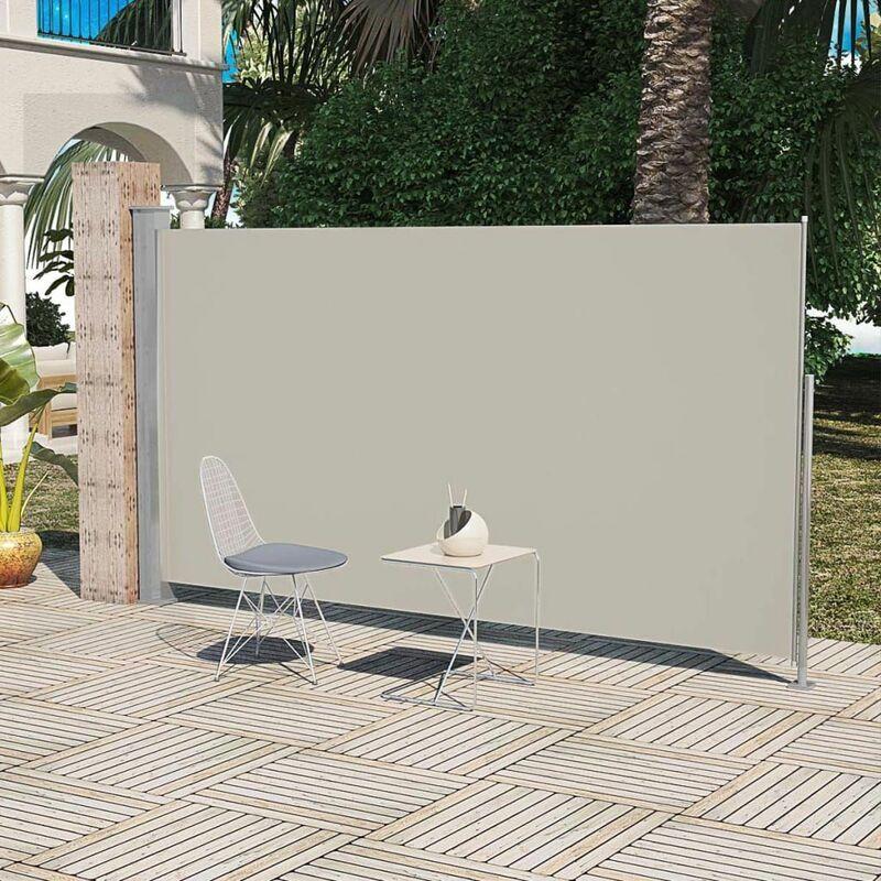 HOMMOO Paravent Store vertical Patio Terrasse 160 x 300 cm Couleur Crème