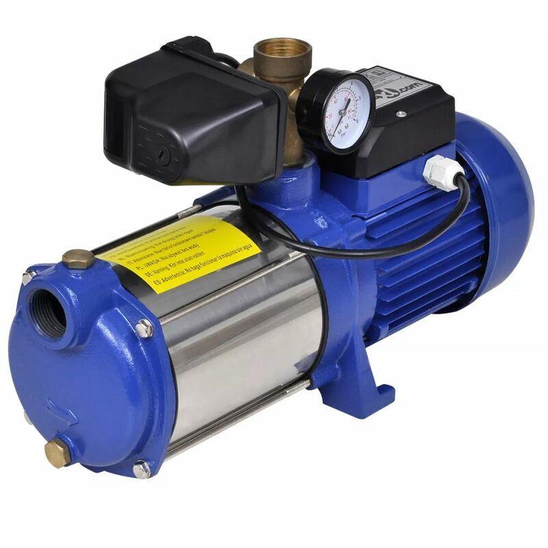 Zqyrlar - Pompe à eau de surface bleue avec manomètre 1 300 W 5 100 l/h