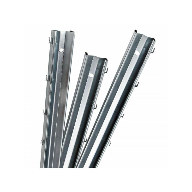 AQUAGART 45 poteaux de clôture à profil en Z 2 m clôture de protection contre la