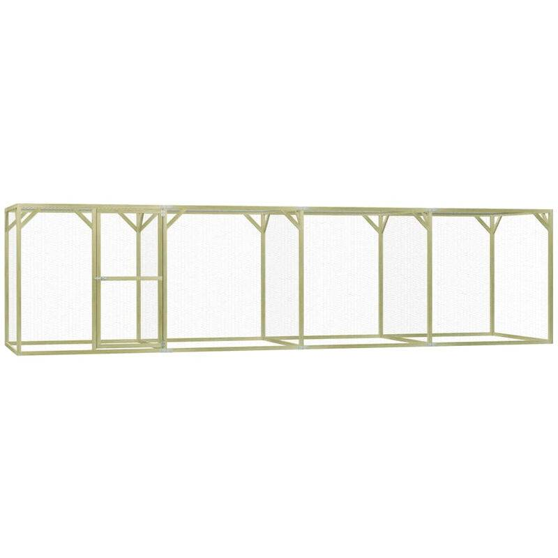 Asupermall - Poulailler 1,5x6x1,5 m Pinede impregnee