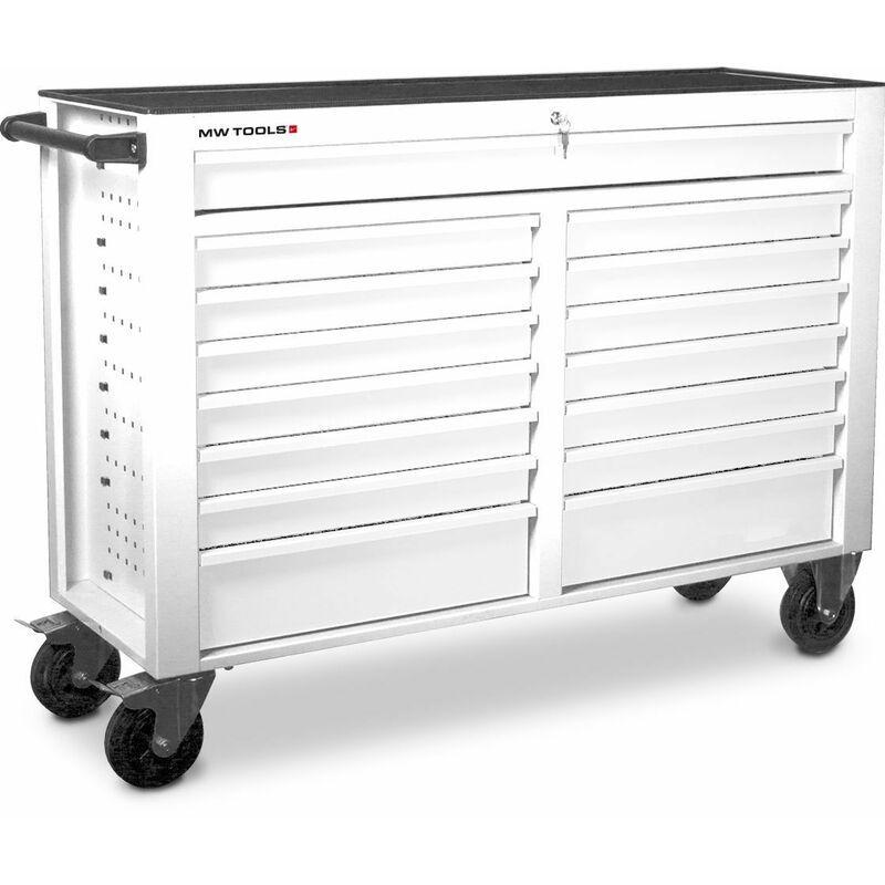 MW-TOOLS Servante d'atelier 15 tiroirs blanche MW-Tools GW115W