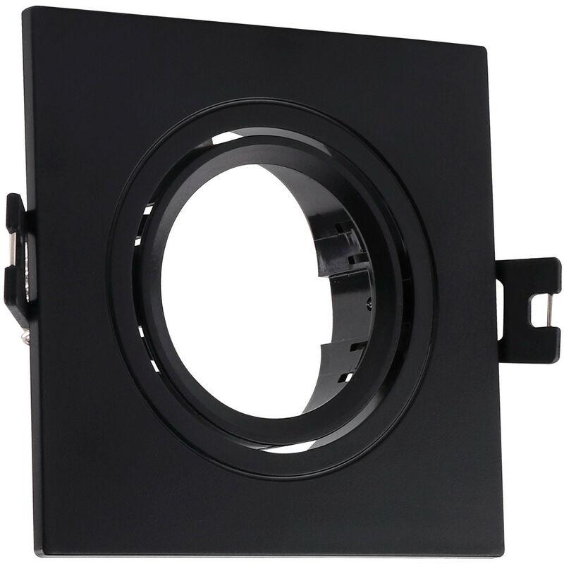 LEDKIA Support Spot Carré Orientable PC pour Ampoule LED GU10 / GU5.3 Noir