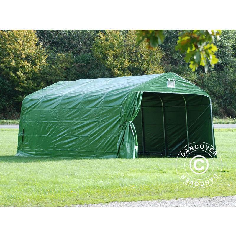 DANCOVER Tente Abri Voiture Garage PRO 3,6x6x2,68m PVC, Vert - DANCOVER