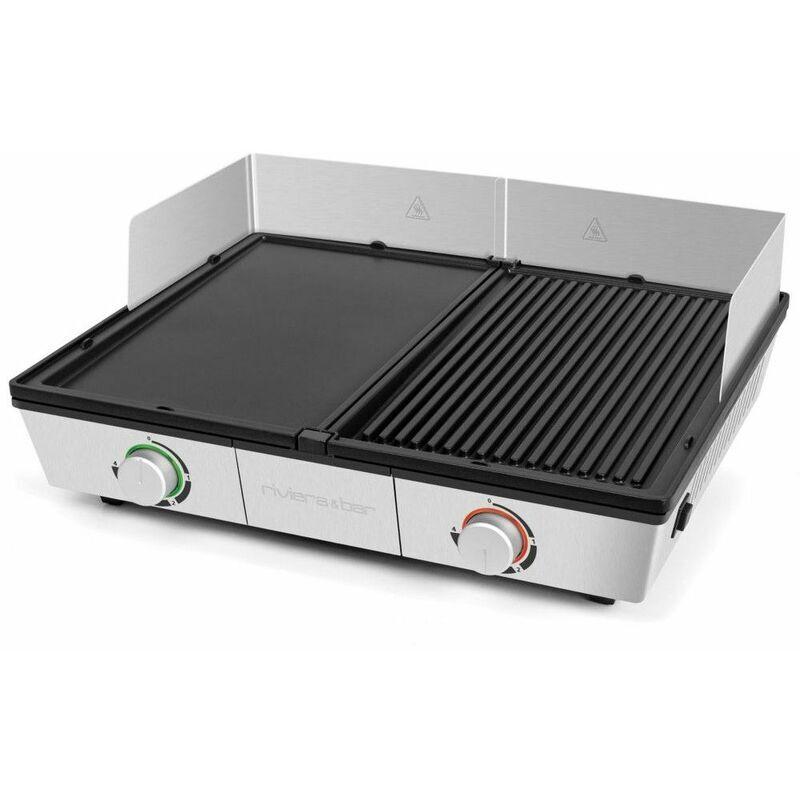 RIVIERA&BAR plancha gril électrique 2200w 43x30,5cm - qpl800 - riviera & bar