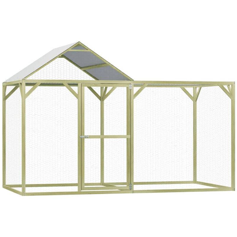 Asupermall - Poulailler 3x1,5x2 m Pinede impregnee
