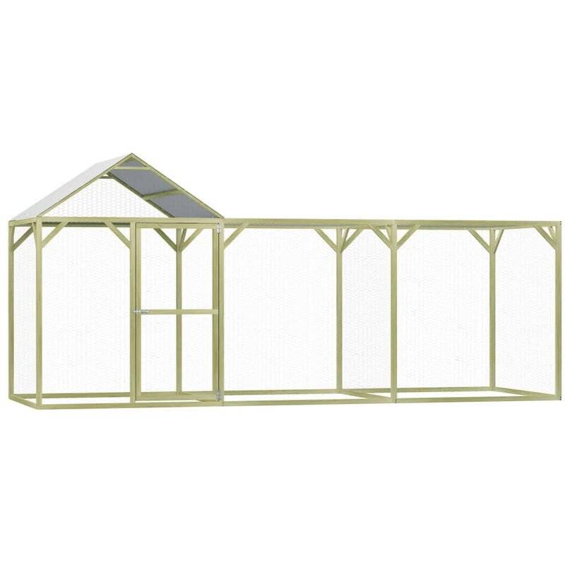 Asupermall - Poulailler 4,5x1,5x2 m Pinede impregnee