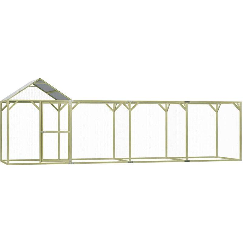 Asupermall - Poulailler 6x1,5x2 m Pinede impregnee