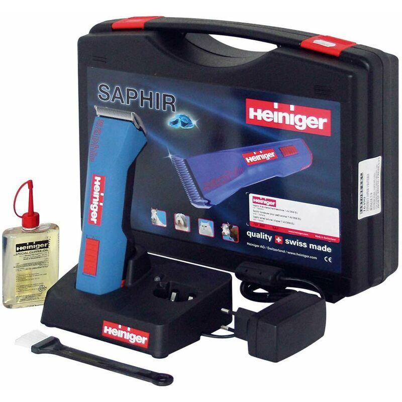 HEINIGER Tondeuse à batterie rechargeable rapide Saphir pour chevaux, bovins,