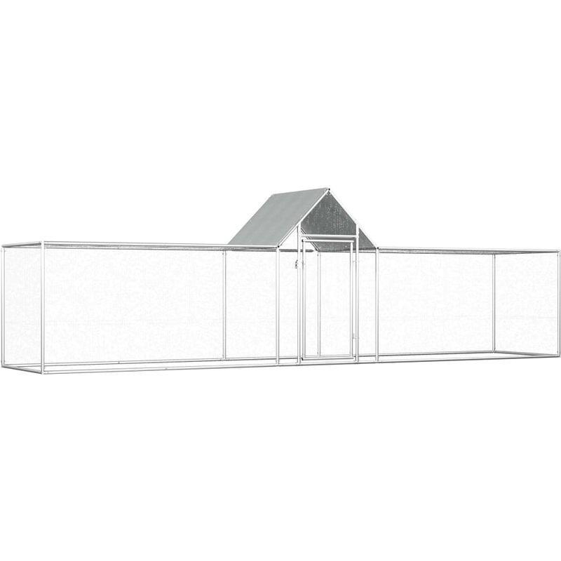 Asupermall - Poulailler 5 x 1 x 1,5 m Acier galvanise