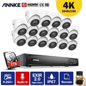 ANNKE 4K Ultra HD PoE Système de sécurité vidéo en réseau 16CH NVR de - Publicité