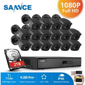 SANNCE Système de caméra de sécurité CCTV 1080N avec 5-en-1 1080N H.264 DVR et - Publicité