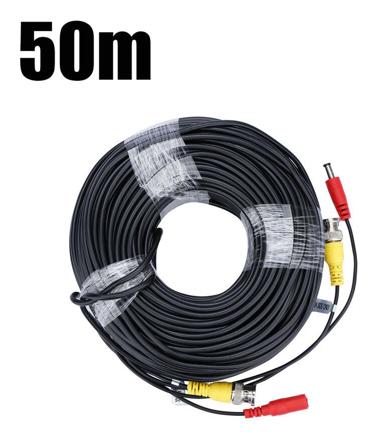 FLOUREON 50 M CCTV DVR Caméra Enregistreur Vidéo Câble DC Alimentation Sécurité