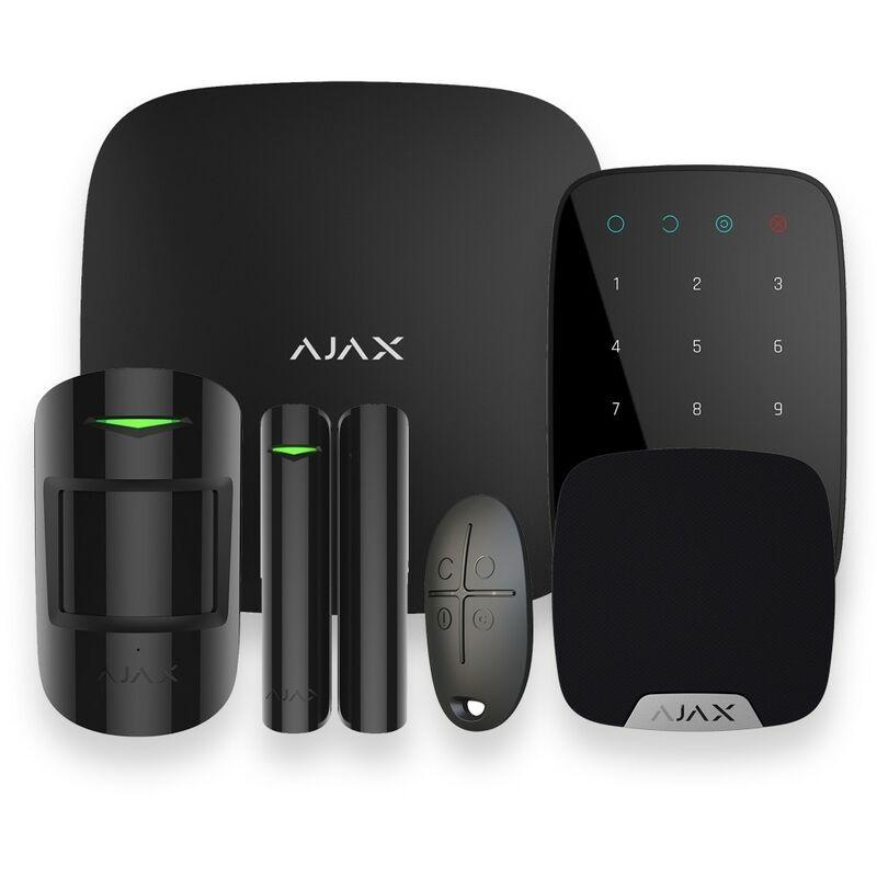 AJAX Alarme maison GSM sans fil noir - Ajax AJ-HUBKIT-B-KS - Noir