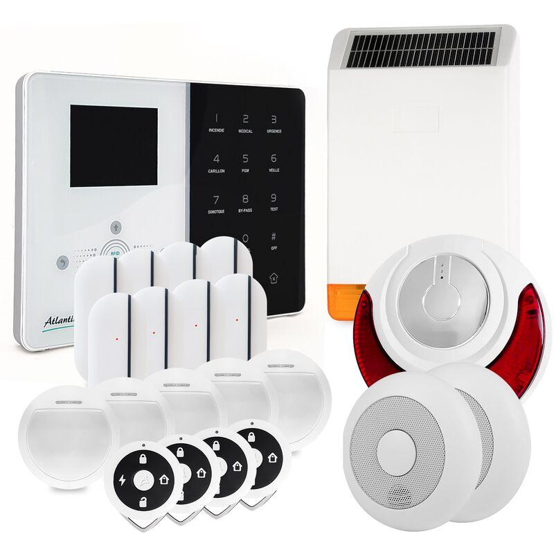 ATLANTIC'S Alarme maison sans fil IP Atlantic'S IPEOS KIT 9 MD-326R - Paramétrage