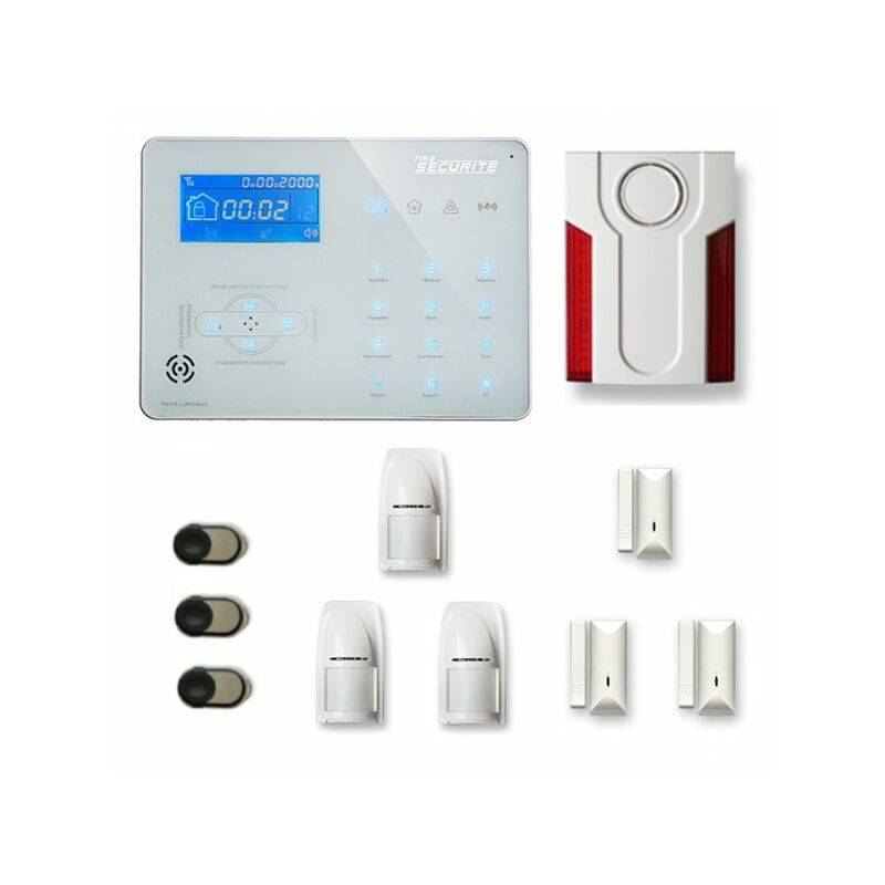 TIKE SéCURITé Alarme maison sans fil ICE-B28 Compatible Box internet - TIKE SéCURITé