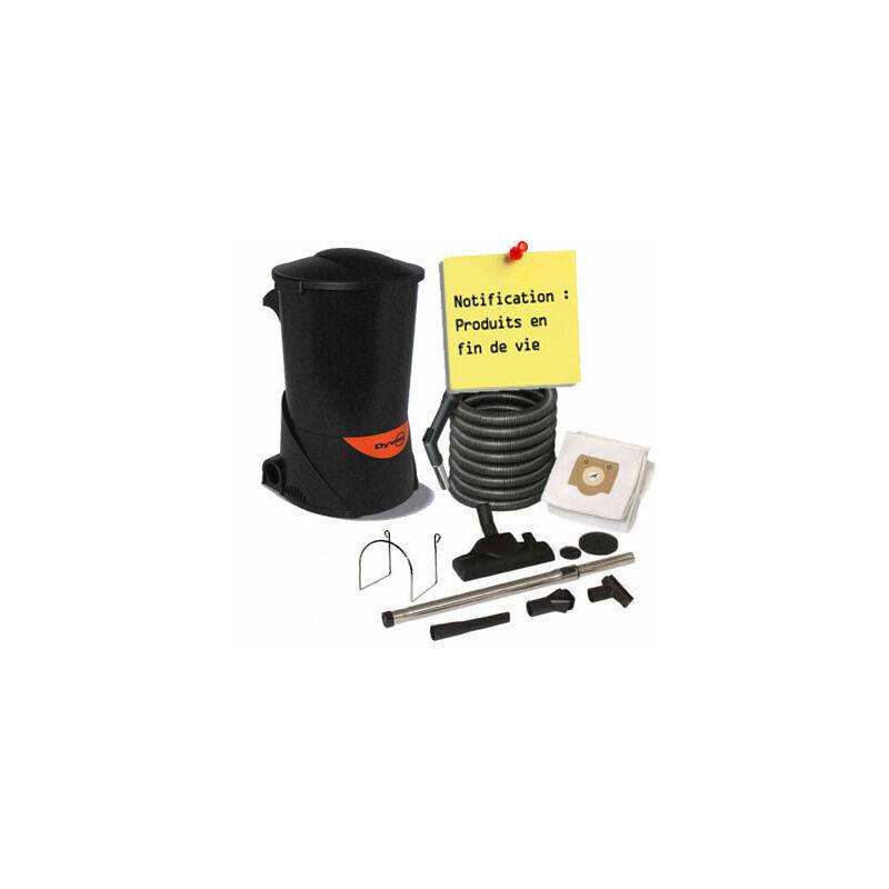 DYVAC aspirateur centralisée pack Garantie 2 ANS (jusqu'à 300 m²) + set de