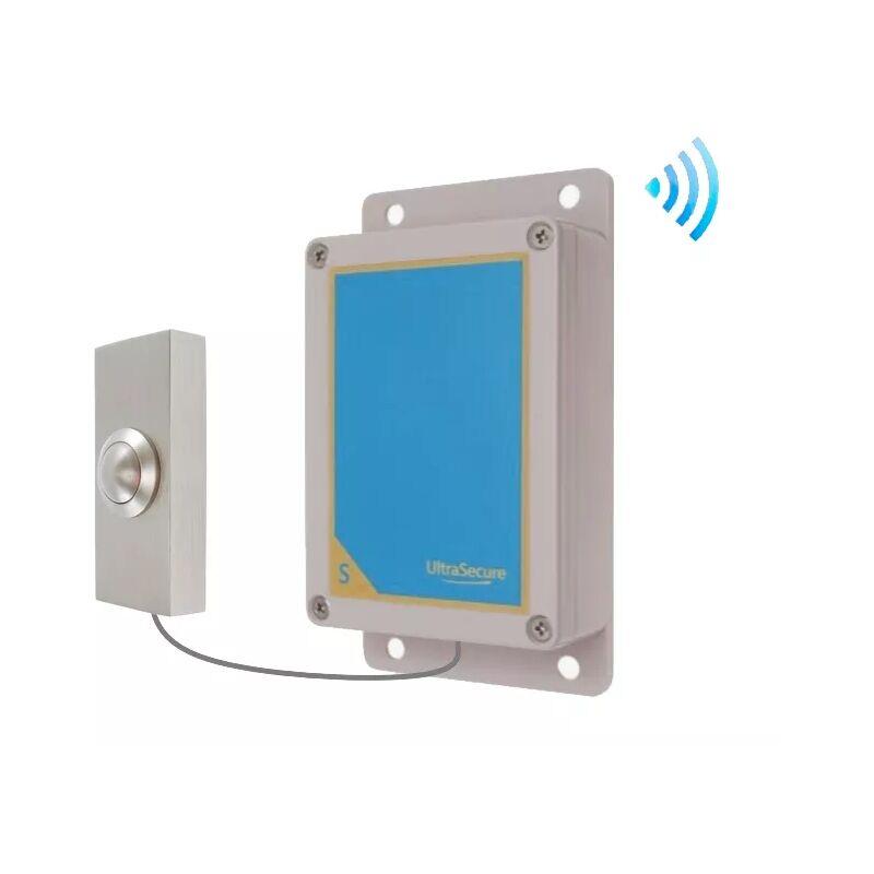ULTRA SECURE Kit métal brossé bouton-émetteur sans-fil sonnette autonome extérieure