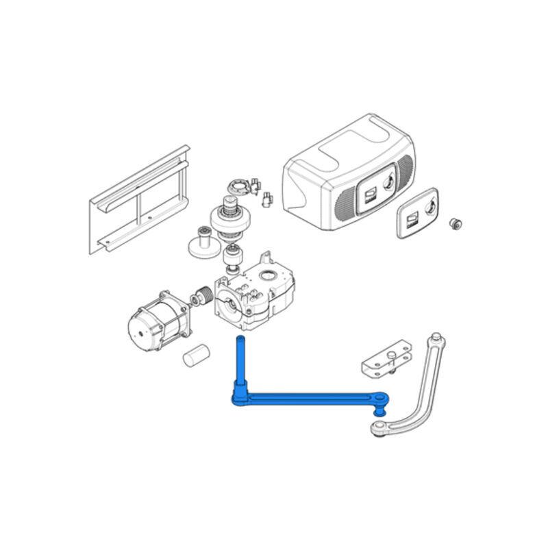 CAME pièce détachée bras transmission droit (straight) ferni 119rid075 - Came