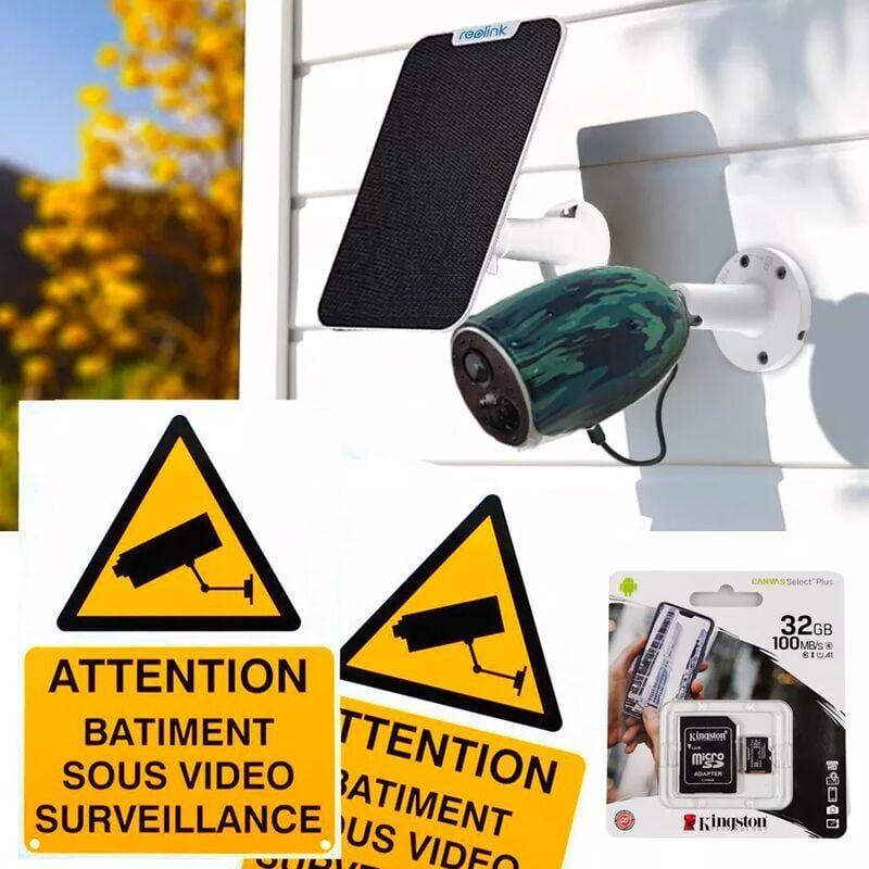 ULTRA SECURE Caméra 4G 100% sans fil version FR + panneau solaire / extérieure IP65