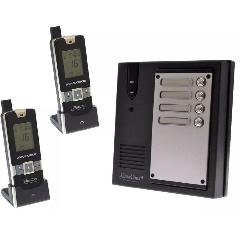 Ultra Secure - Interphone 600 mètres collectif longue portée sans-fil