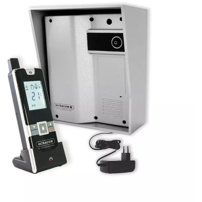 ULTRA SECURE Interphone 600 mètres individuel sans-fil - UltraCOM2 ARGENTÉ 600-SOLO