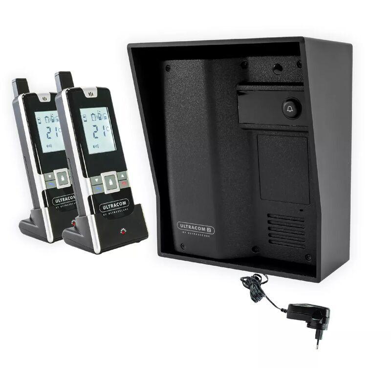 ULTRA SECURE Interphone 600 mètres individuel sans-fil - UltraCOM2 NOIR 600-SOLO