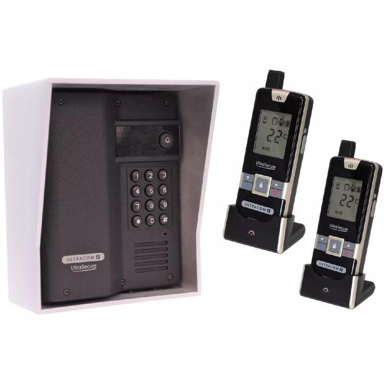 ULTRA SECURE Interphone 600m autonome digicode sans-fil longue distance - UltraCOM2