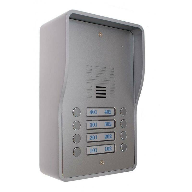 Ultra Secure - Interphone collectif GSM 4G anti-vandale 8 boutons