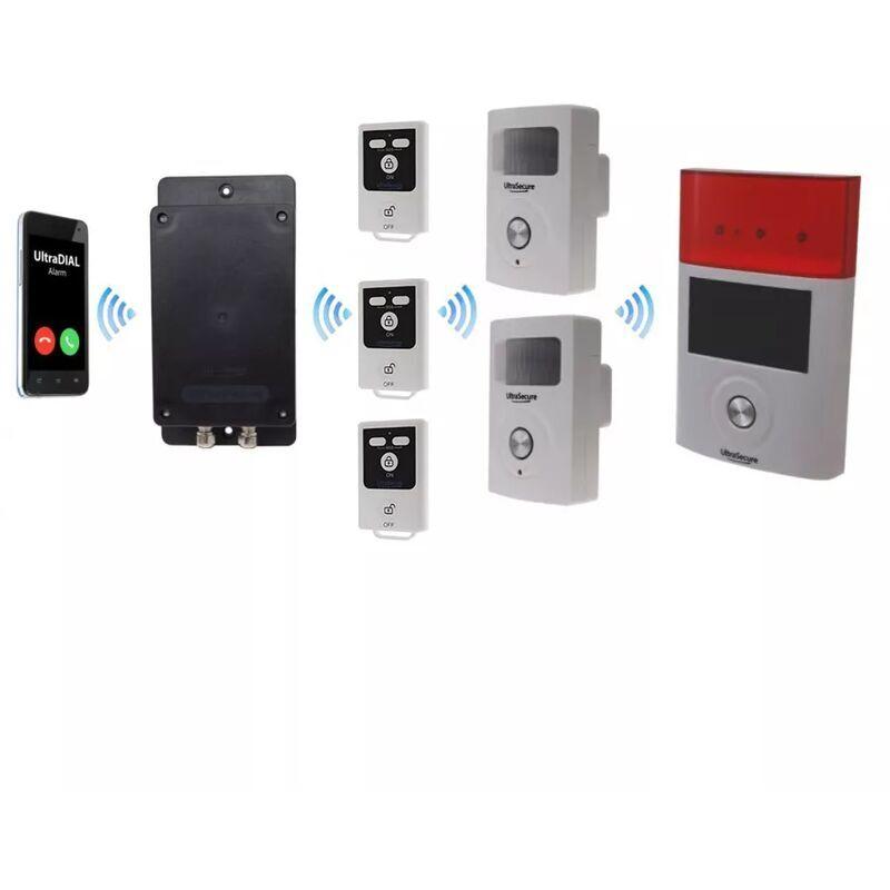 ULTRA SECURE Kit 100% sans-fil autonome double détection mouvement + sirènes