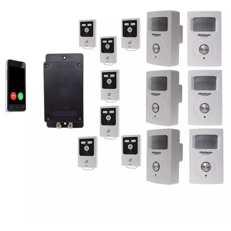 ULTRA SECURE Kit 6 100% sans-fil autonome renforcé 6 détections mouvement + 6