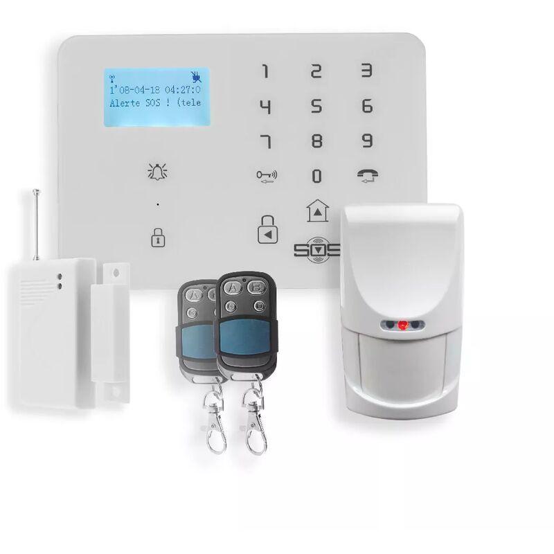 ULTRA SECURE Kit alerte GSM sans-fil - Centrale KP-9 2G+3G + détecteur ouverture +